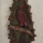 "Cardinal Wall Plaque Bronze 5"" $100"
