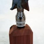 Armadillo Wine Stopper (Texas State Small Mammal) Bronze $75 Stand Sold Seperately $10