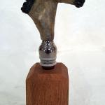Horse Bottle Stopper (Buckskin) Bronze $75 Stand sold searately $10