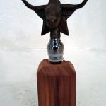 Longhorn Wine Stopper Bronze $75 Stand sold saprately $10