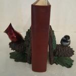 Cardinal and Chickadee Book Ends Bronze