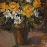 "Yellow Roses 16"" x 12"" Oil $1295"