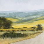 Pastures of Gold Watercolor $1200