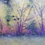 Autumn Flock 18 X 22 Framed Watercolor $1450
