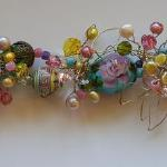 Rose Trail Swarovski crylstals, Pearls, Vintage Beads, Handmade Clasp, 3 Lampwork Beads, SS PEB008 $457