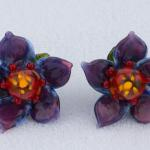 Floral Sculpts Series #1 Earrings in Purple $237.00  PEE071