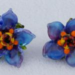 Floral Sculpts Series #2 Earrings in Blue $227  PEE072