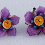 Floral Sculpts Series #3 Earrings in Violet $227  PEE073