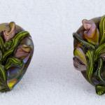 Art Nouveau Floral Series #2 Earrings $197  PEE081