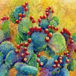 Desert Gems 18 x 24 Watercolor Batik $980