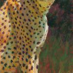 C is for Cheetah 20 x 10 Pastel $800