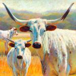 Dawn of a Texas Dynasty 36 x 36 Pastel $5180