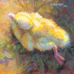 Grounded Duckling 6 x 6 Pastel $249