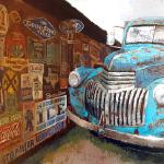 Signs of Yesteryear 15 x 30 Acrylic $1095