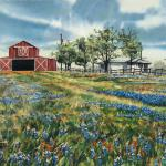 New Barn 22 x 28 framed size Watermedia $1750