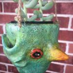 Green Hanging Pothead Planter $60