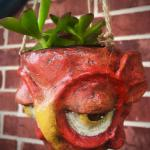 Red Hanging Pothead Planter $60
