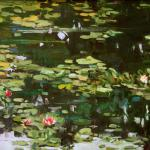 Water Garden 12 x 24 Oil on Birch Panel