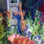 Yard Ornaments 16 x 11 Oil