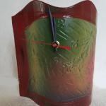 "Standing Wave Clock - Green 9"" x 9"" Ceramic #270 $45"