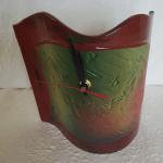 "Standing Wave Clock Green - Top View 9"" x 9"" Ceramic #270 $45"