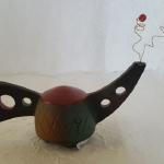 "Tiny Tea Pot - Red Top 4""H x 7""W Ceramic #225 $40"
