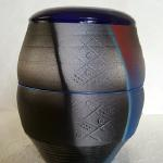 "Vase in Blue 8"" H x 6""W Ceramic #266 $60"