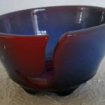 "Yarn Bowl in Blue & Red 4""H x 7""W Ceramic #275 $35"