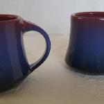 "Mugs in Blue 4""H Ceramic #268 & #269 $20 each"