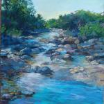 Hill Country Stream Pastel